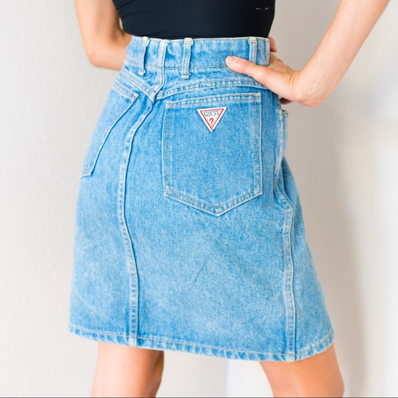 buy good select for authentic exclusive deals Vintage Guess Denim Jean Skirt Small S